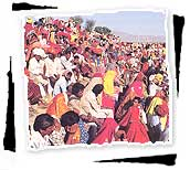 Crowd in Pushkar Fair